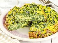 Omelete de espinafres - um jantar saboroso, prático e saudável!