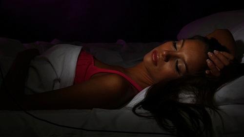 Sleeping in the dark!
