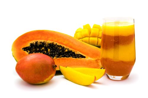 Papaya and Mango juice!
