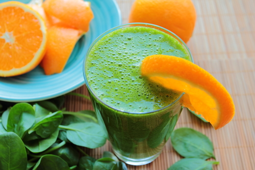 Spinach juice with orange