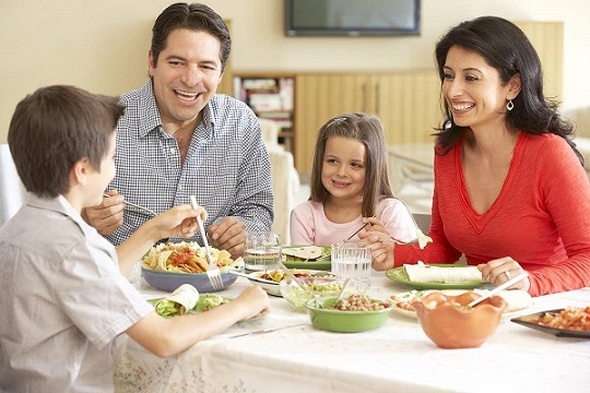 Having your meals with your kids...
